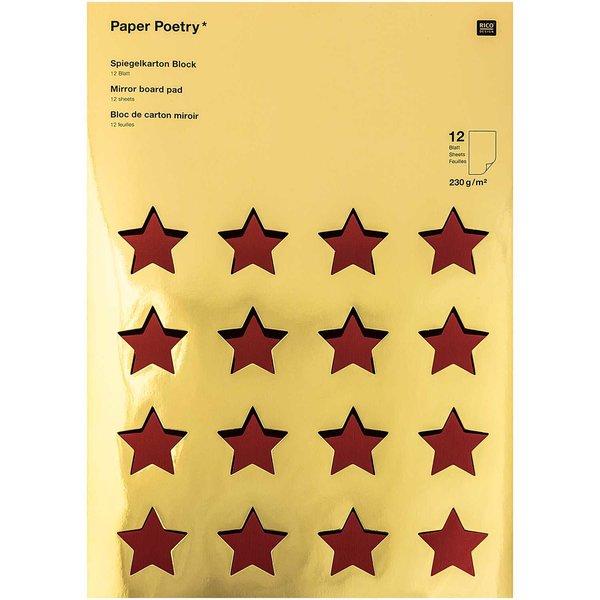 Paper Poetry Spiegelkartonblock rot-grün 21x29,5cm 230g/m² 12 Blatt