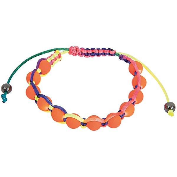 Rico Design Makrameearmband orange-mehrfarbig 17-26cm