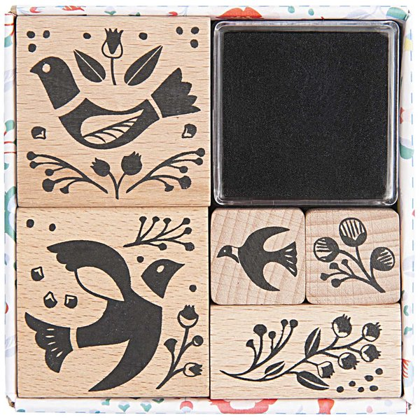 Paper Poetry Stempelset Birdie 5 Stück