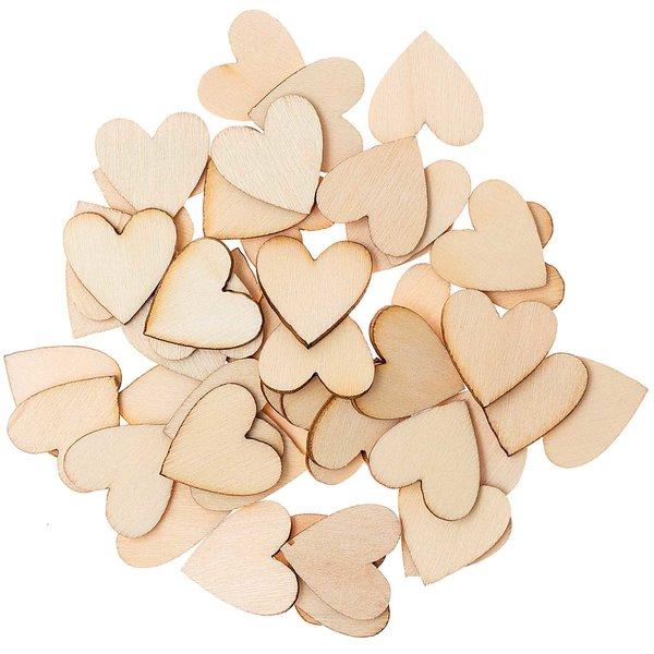 Ohhh! Lovely! Holzstreu Herz groß natur 48 Stück