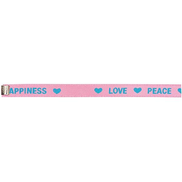 Rico Design Webband bedruckt pink-blau XS/S 5x160 mm