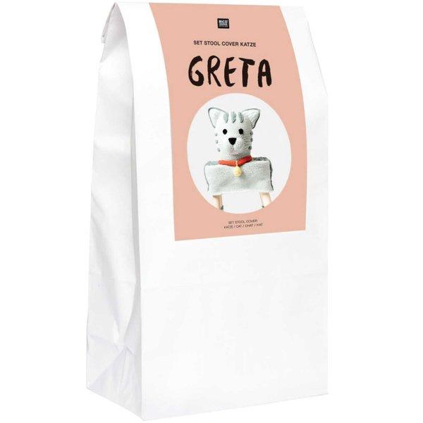 "Rico Design Häkel-Set Stool Cover Katze ""Greta"""
