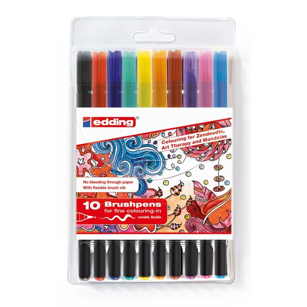 edding 1340 brushpen Tangle Set 10 Stifte
