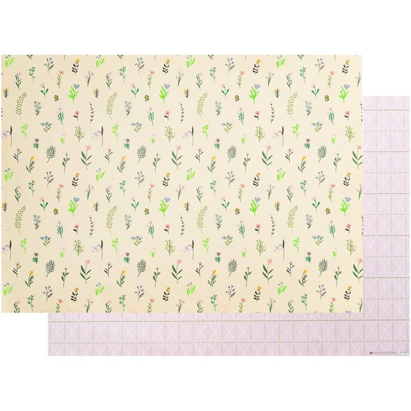 Paper Poetry Motivkarton Bunny Hop Streublumen gelb 50x70cm