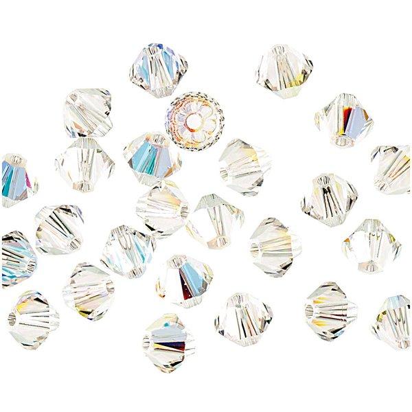 Swarovski® Glasschliffperle crystal AB 4mm 25 Stück
