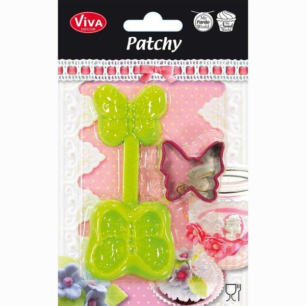 VIVA DECOR Patchy Schmetterling mit Ausstanzer 10,7cm
