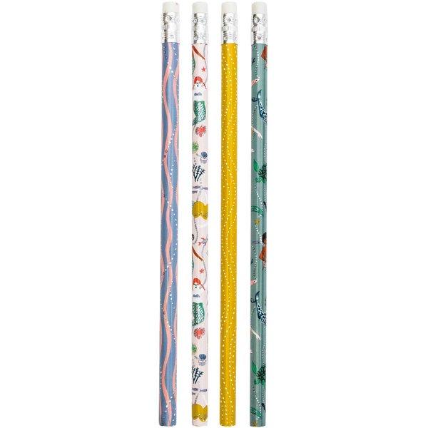 Paper Poetry Bleistifte Mermaids 4er-Set