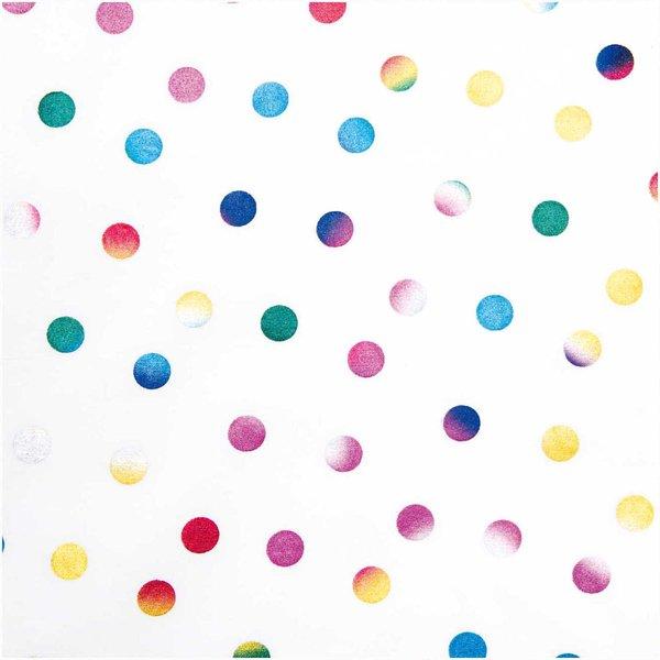 Rico Design Druckstoff Punkte mehrfarbig 140cm