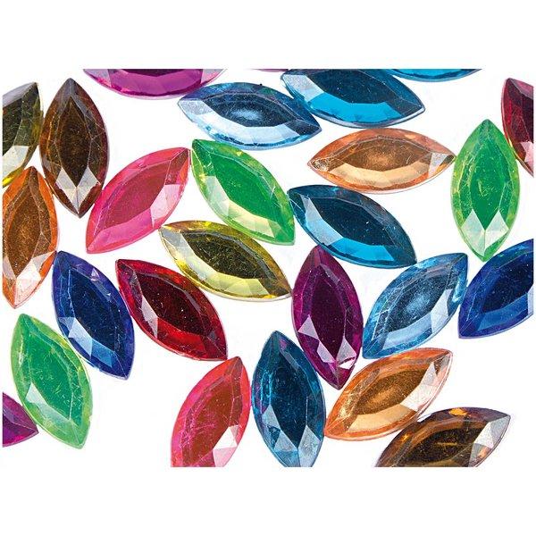 Rico Design Strass Blätter mehrfarbig ca. 50 Stück