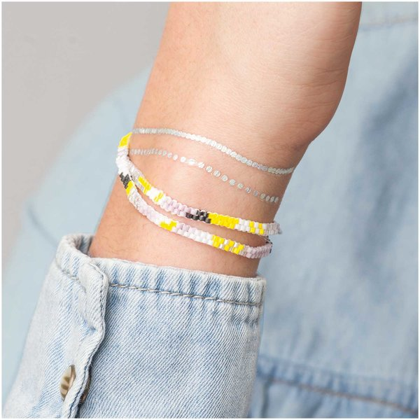 Jewellery Made by Me Brick Stitch Set Armband pastell 360x4mm