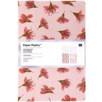 Paper Poetry Notizbücher A5 Kirschblüten-blurry 2 Stück
