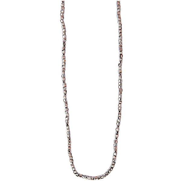 Rico Design Glasschliffkette Würfel grau 70cm