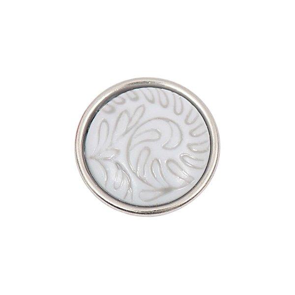 Rico Design Knopf Blätter grau-beige 14mm