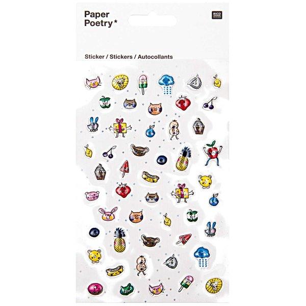 Paper Poetry Epoxy Sticker Gesichter