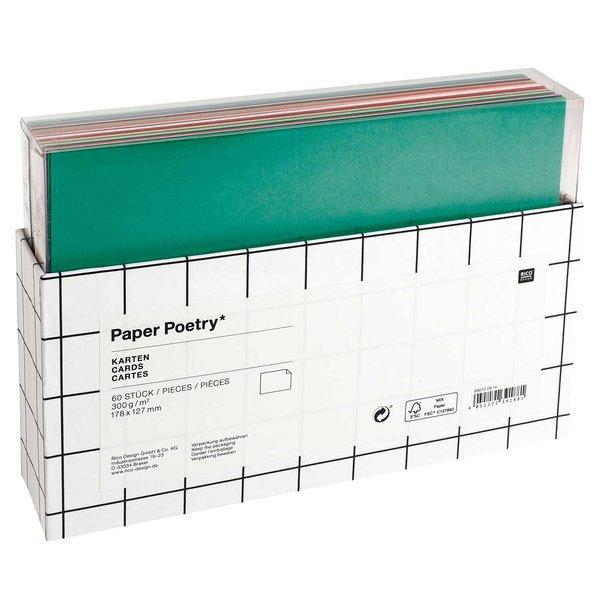 Paper Poetry Karten mehrfarbig 17,8 x12,7cm 300g/m² 60 Stück