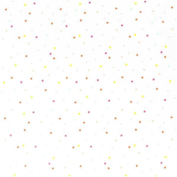 Rico Design Stoff Konfetti weiß-neon-pastell 140cm