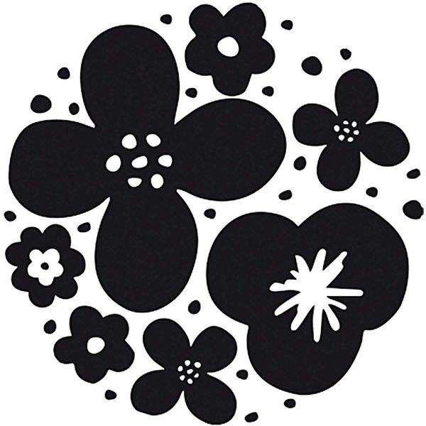 Rico Design Stempel Blumen rund 3,5cm