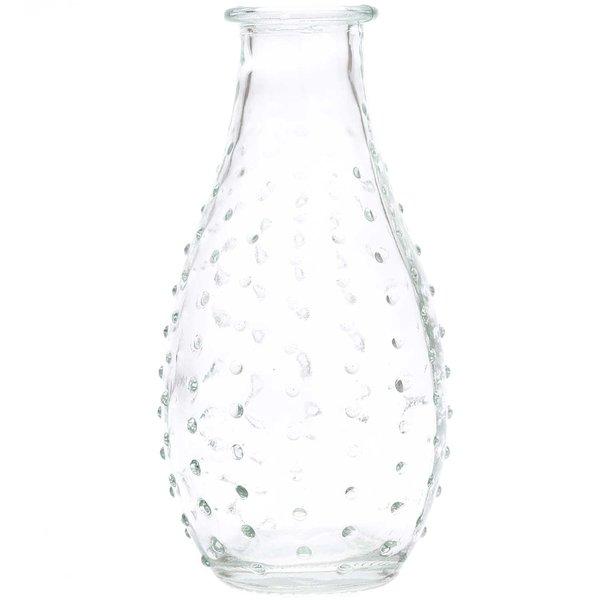 Vase aus Glas bauchig klar 14cm