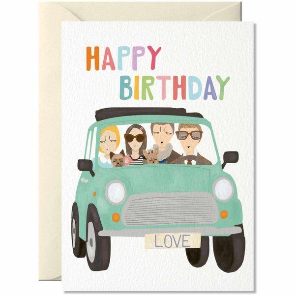 Nelly Castro Grußkarte Happy Birthday Love 14,8x10,5cm