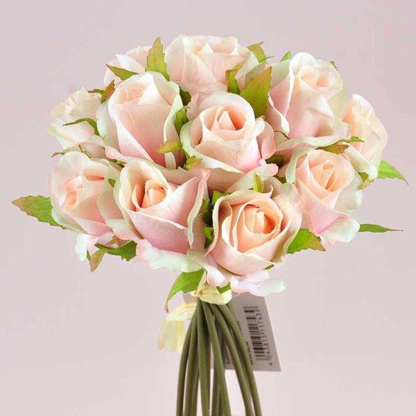 Rosenbund rosa 25cm 13 Knospen