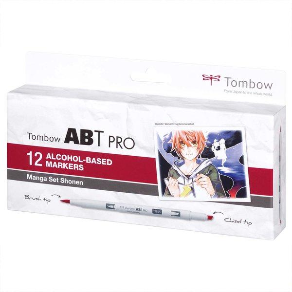 Tombow ABT PRO Manga Alkoholbasierte Marker 12teilig