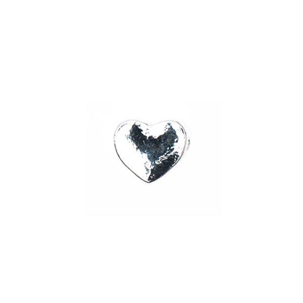 Rico Design Perle Herz silber 5x5mm 9 Stück