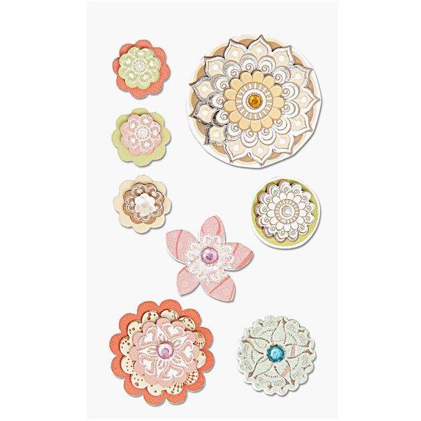 Paper Poetry 3D Sticker Blumenmix