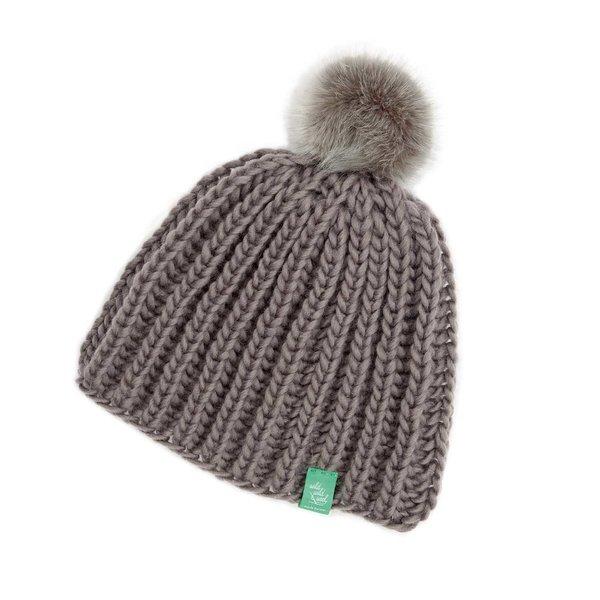 Rico Design Wild Wild Wool Strickset Mütze mit Bommel