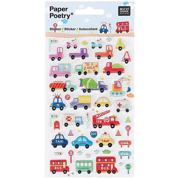 Paper Poetry Sticker Fahrzeuge II 10x19cm
