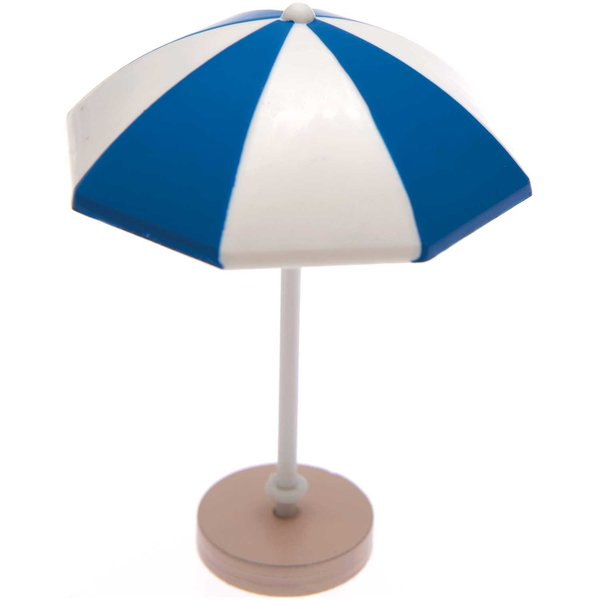 Ohhh! Lovely! Deko-Sonnenschirm blau-weiß 5,5x7,5cm
