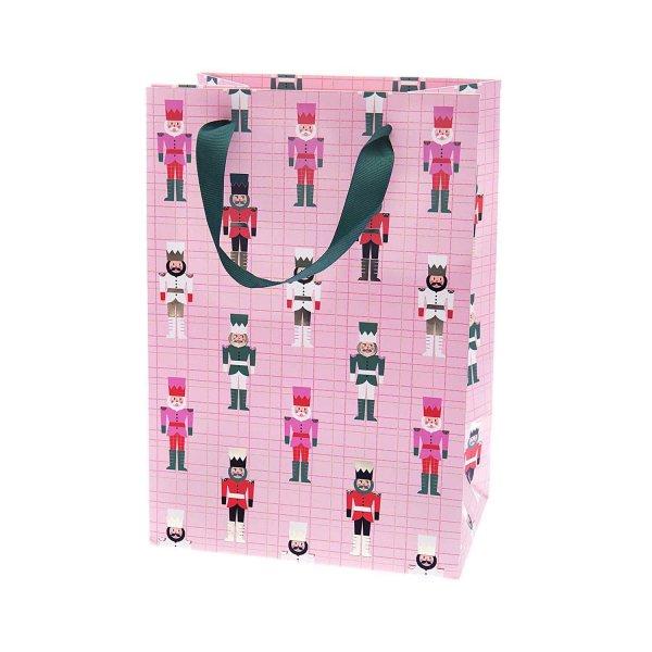 Paper Poetry Geschenktüte Nussknacker rosa 18x26x12cm