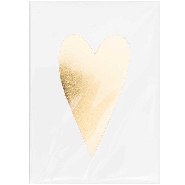 Paper Poetry Karten Herz gold 10 Stück