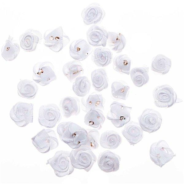 Dior-Röschenköpfe weiß 36 Stück