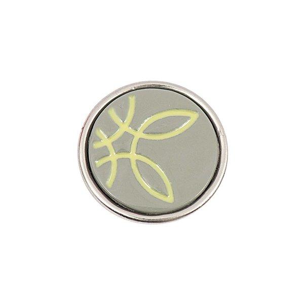 Rico Design Knopf Schlaufen gelb-braun 14mm