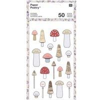 Paper Poetry Sticker Pilze Kawaii 4 Blatt