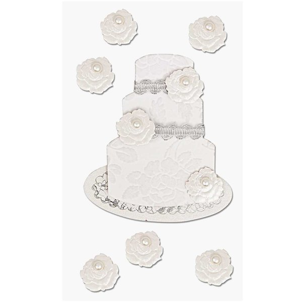 Paper Poetry 3D Sticker Hochzeitstorte