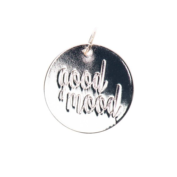 Mix it Up - Jewellery Anhänger Scheibe Good Mood silber Ø17mm