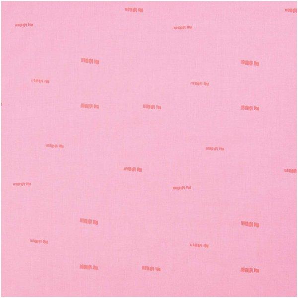 Rico Design Druckstoff Nature Matters Striche pink-neon 50x140cm