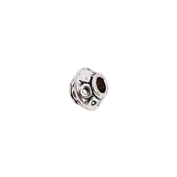 Rico Design Perle Ornament silber 8x7mm 15 Stück