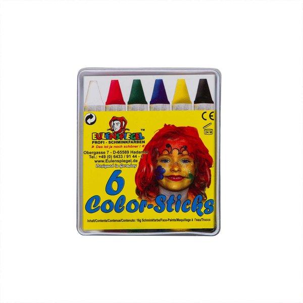 Eulenspiegel Schminkstifte Color-Sticks 6 Stück
