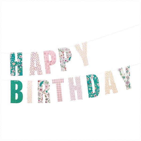 Paper Poetry Girlande Hygge Happy Birthday 3m