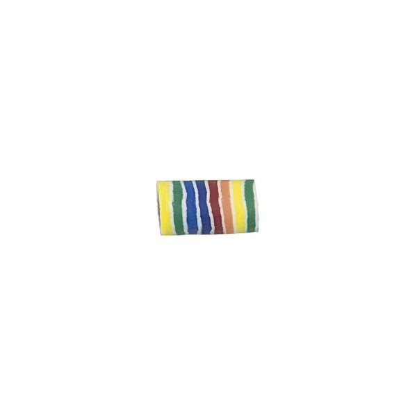 Jewellery Made by Me Perle Röhre gestreift mehrfarbig 10x6mm 8 Stück