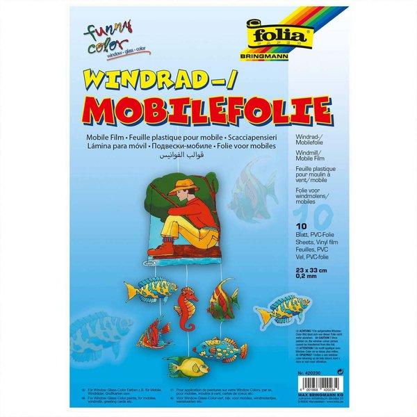 folia Windradfolie 0,2mm 23x33cm 10 Stück