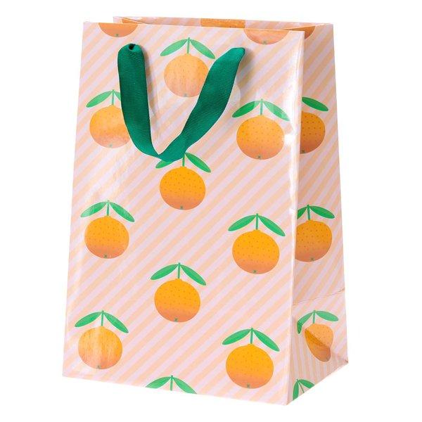 Paper Poetry Geschenktüte Orangen 18x26x12cm