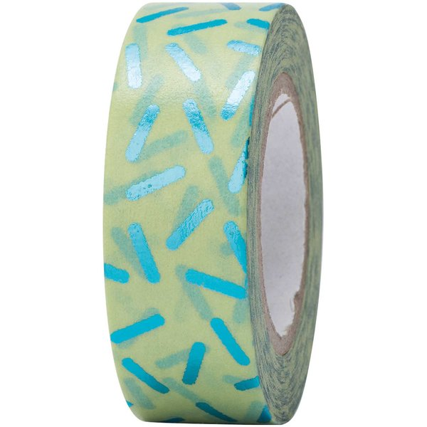 Paper Poetry Tape Stracciatella türkis 15mm 10m Hot Foil