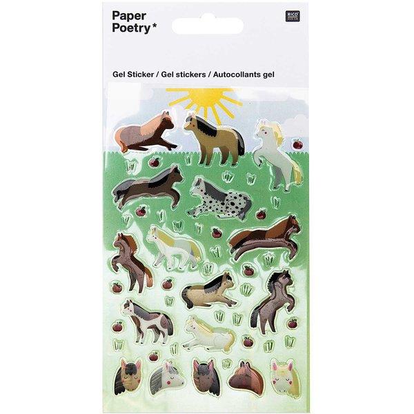 Paper Poetry Gelsticker Pferde
