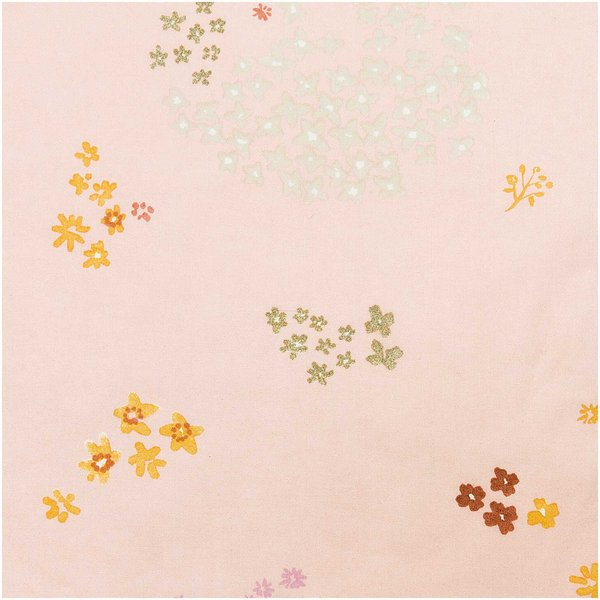 Rico Design Druckstoff Crafted Nature Blumen rosa-metallic 140cm beschichtet