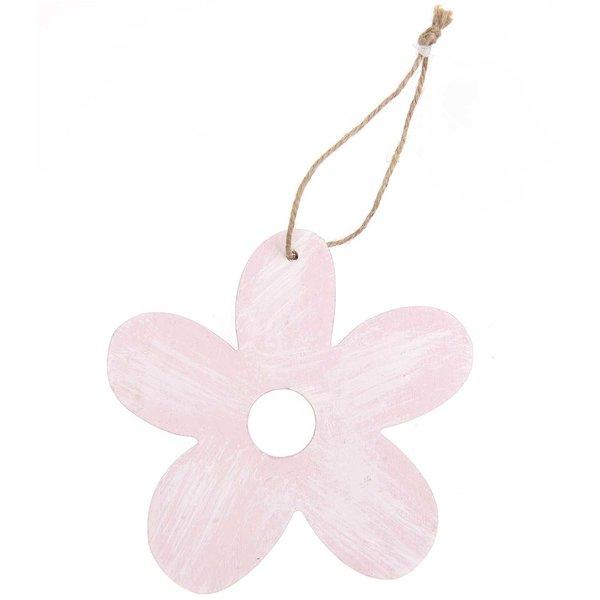 Hänger Blüte rosa-weiß gewischt 9cm