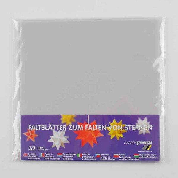 MARPA JANSEN Faltblätter transparent weiß 15x15cm 32 Stück