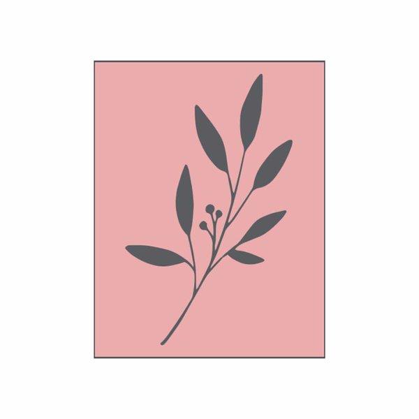 May&Berry Stempel Zweig rosa 35x45mm